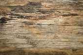 Abstract Surface Wood Table Texture Background. Close Up Of Dark Rustic Wall Made Of Old Wood Table poster