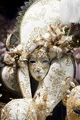 Ventian Carnival Mask in shop window