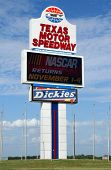 The Texas Motor Speedway sign in Fort Worth, Texas.