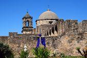 A pano of Mission San Jos? in San Antonio Texas
