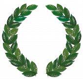 Laurel Wreath Green