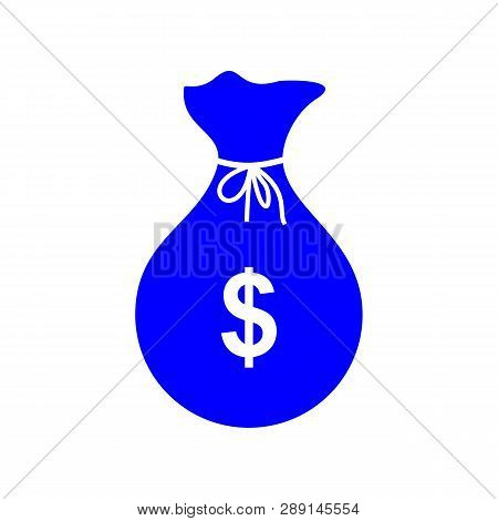 poster of Money Bag, Money Bag Icon Vector, Money Bag Icon Sign For Logo, Website, App, Ui. Money Bag Icon Iso