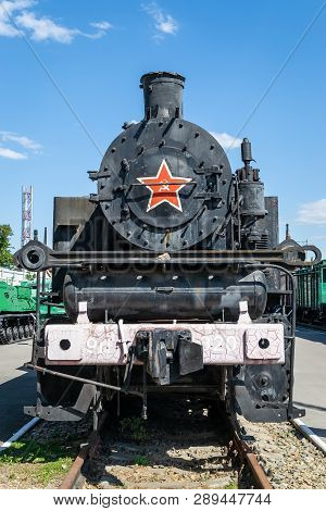Old Steam Locomotive Beside A