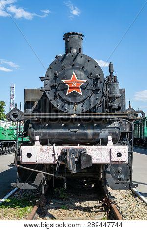 Old Steam Locomotive Beside A