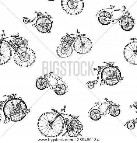 Seamless Pattern Steampunk With Old
