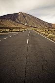 This is the road around Teide volcano, Canary islands