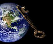 Clave para la comunicación Global - un Skeleton key y la tierra