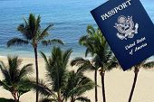 Travel To the Hawaiian Islands - US Passport and paradise.