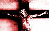 Jesus on the cross - abstract image