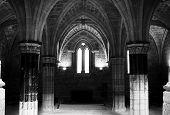 Interior view of the Monasterio de Piedra, in Zaragoza province.
