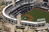 Gorgeous aerial view of Petco Park - Home of the San Diego Padres Professional Baseball Team