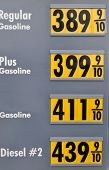 Over four dollars a gallon as gas prices skyrocket in the summer of 2008.