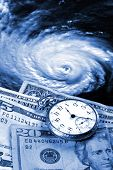 stock photo of katrina  - Cost of a hurricane  - JPG