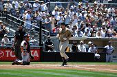 June 22, 2008 - Adrian Gonzales, San Diego Padres slugging first baseman crossing home plate after h
