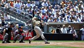 June 22nd, 2008 - Adrian Gonzalez, star first baseman of the San Diego Padres at Petco Park versus t