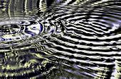 Futuristic abstraction - concentric rings in a watery pattern
