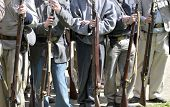 VISTA, CA - MAR 7: A Closeup of Confederate  uniforms during a Civil War reenactment on March 7, 200