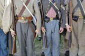 VISTA, CA - MARCH 7: â??Confederateâ?? soldiers in 1860s era uniforms at a Civil War reenactment on