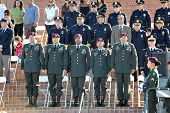 LA JOLLA, CA - OCTOBER 16: Military and police honoring fallen soldier and police officer Federico B