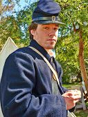VISTA, CALIFORNIA - MARCH 5: American Civil War (1861-1865) is reenacted by a Union soldier actor on