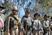 VISTA, CALIFORNIA - MAR 5: American Civil War (1861-1865) is reenacted by Confederate soldiers on Ma