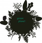 stylized luxuriant planet
