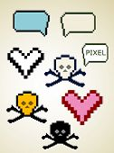 cute graphic pixel elements