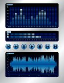 Blue Digital Sound Mixer