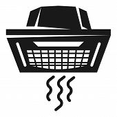 Ceiling Air Conditioner Icon. Simple Illustration Of Ceiling Air Conditioner Icon For Web Design Iso poster