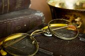 Old Glasses And Old Books