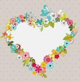 heart wreath, a valentine illustration
