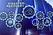 Big Data Disaster Recovery Concept. Backup Plan. Data Loss Prevention On A Virtual Screen poster
