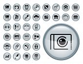 Web Icon Set. Editable vector files.