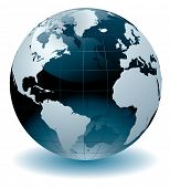 stock photo of globe  - World globe vector illustration - JPG