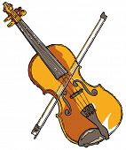 Violin - editable vector illustration