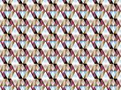 Poly Art Grid Geometric Seamless Vector Background. Hypnotic Polygon Triangles Geometric Bauhaus Des poster