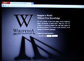 SAN FRANCISCO, CA - JAN 18: Wikipedia, the largest collaborative online free encyclopedia began a 24