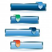 vector blue download buttons