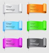 Vector illustration of multicolored labels