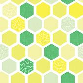 Hexagon Background Seamless Vector Pattern. Green Lime Yellow White Geometric Abstract Art With Grun poster