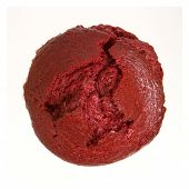 Red Muffin From Top View Isolated On A White Background