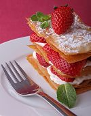 plate of berry mille feuille