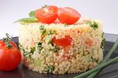 couscous and vegetable, tabbouleh