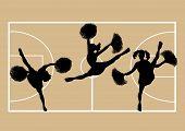 Cheerleaders Basketball 2