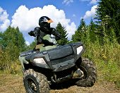 Sportsman Riding Quad Bike