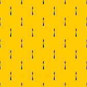 Scraper Pattern Seamless Vector Repeat Geometric Yellow For Any Design poster