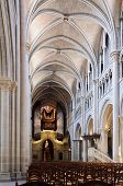 Cathedral Nave In Lausanne