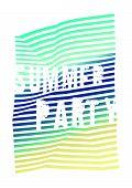 Summer Party Typographic Vintage Grunge Poster Design. Vector Illustration. poster