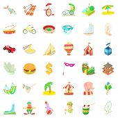 Tour Icons Set. Cartoon Style Of 36 Tour Icons For Web Isolated On White Background poster
