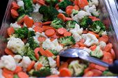 Mixed Vegetable stir fry in pan